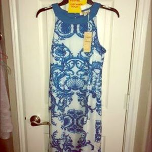 Blue&White Sleek Dress